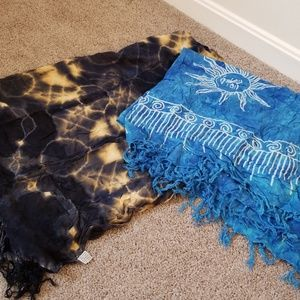 Set of 2 like new swim coverup sarongs
